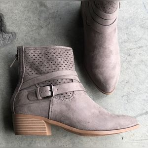 CityClassified Women Buckle Ankle Boots Charcoal